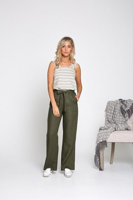 Ebby & I Mandalay Pants Khaki