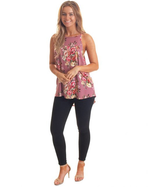 Freez String Top Pink Floral