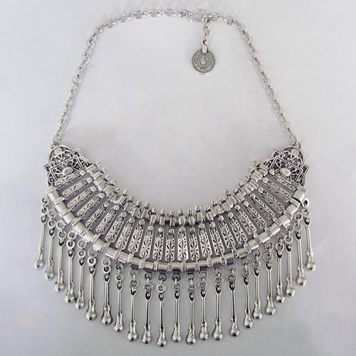 Lost Lover Ankara Necklace with drops