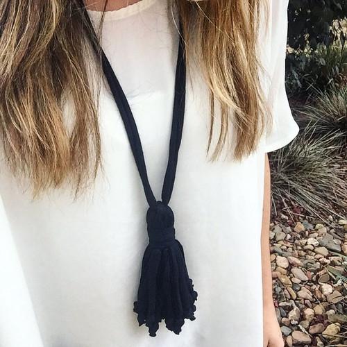 Hill House Designs Necklace Tassel Black
