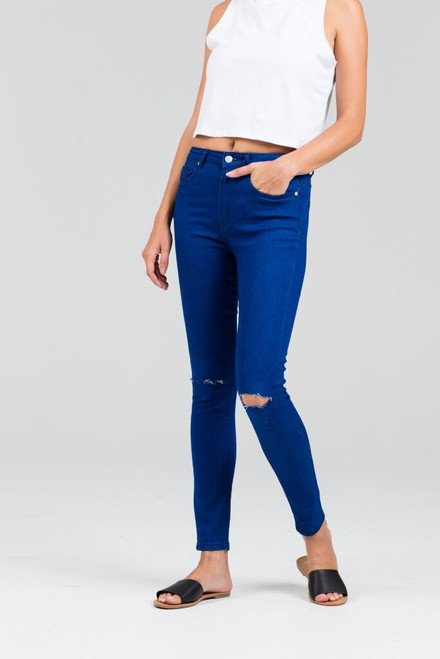 Rumour Has It Rapture Jeans Busted Knee Blue