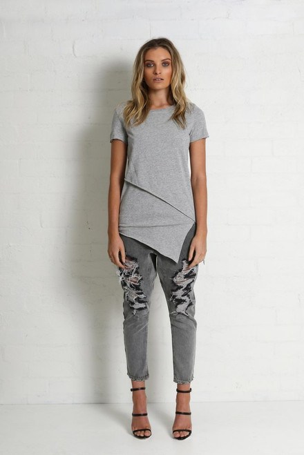 Madison Square Xanthe Grey Tee