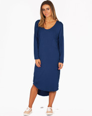 Freez Jersey Dress Navy