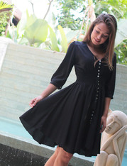 Freez Bohemian Dress Black