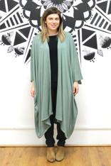 Frankie & Dandelion Midi Kimono Sage Green