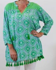 Azure Crete Tunic Green
