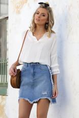 Lost in Lunar California Denim Skirt