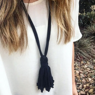 Hill House Designs Necklace Tassel Black