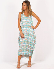 Freez Draped Maxi Dress Green