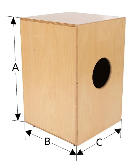 Cajon Drum Bag Diagram