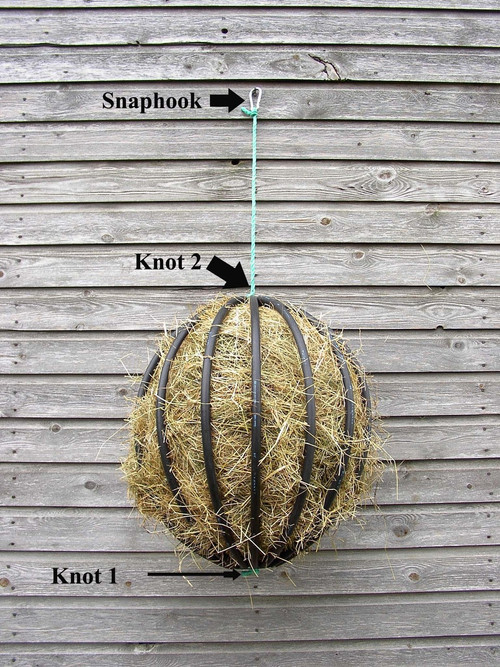 Each Hayball includes a snaphook for easy hanging.