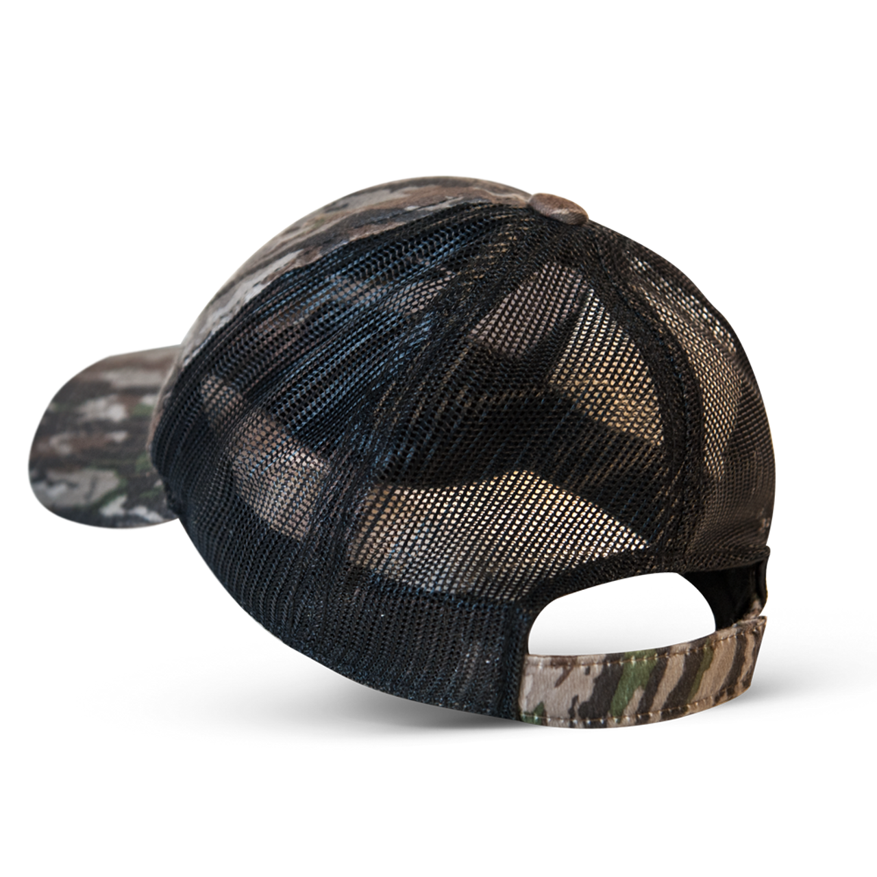 Original Real Tree Camo cap with black mesh and velcro closure.