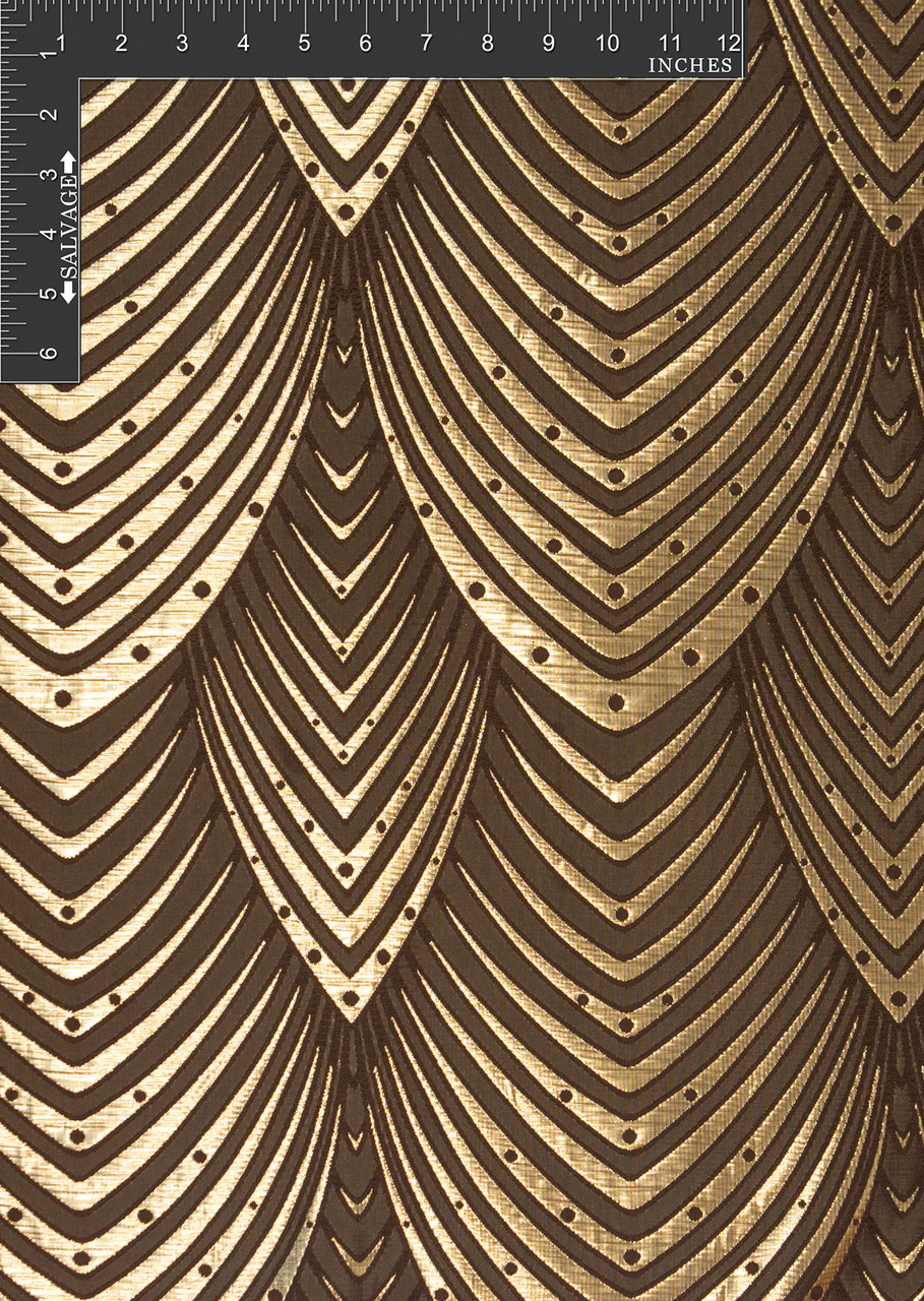 Hi rise polyester metallic jacquard designer scale fabric for Designer fabric by the yard