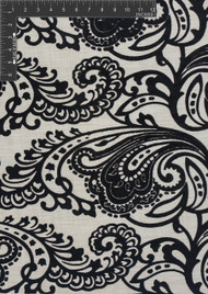 Gothic Burnout Velvet Designer Ornate Fabric by the Yard