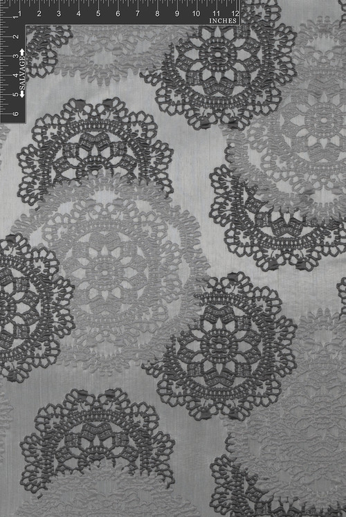 Big Lace Polyester Novelty Jacquard Designer Lacy Fabric by the Yard