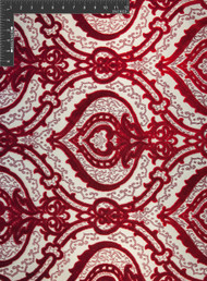 Hafez Polyester Acrylic Blended Velvet Jacquard Designer Ornate Fabric by the Yard