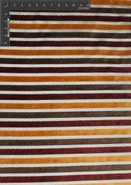 Horizon Polyester Rayon Blended Velvet Burnout Designer Stripe Fabric by the Yard