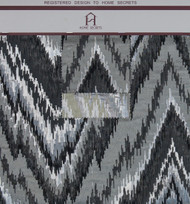 Metallic Chevron Hanger Polyester Metallic Jacquard Designer Zigzag Fabric by the Yard