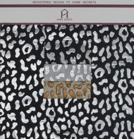 Metallic Cheetah Hanger Polyester Metallic Jacquard Designer Animal Print Fabric by the Yard
