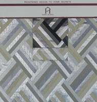 Geometric Hanger Polyester Novelty Metallic Jacquard Designer Tiled Fabric by the Yard