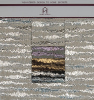 Pulse Hanger Polyester Metallic Jacquard Designer Stripe Fabric by the Yard