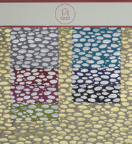 Raindrop Hanger Polyester Metallic Jacquard Designer Spotted Fabric by the Yard