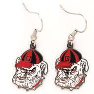 University Of Georgia Bulldogs Dangle Earrings