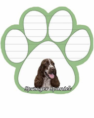 Springer Spaniel Dog Paw Magnetic Note Pad