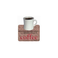 Coffee Die-Cut Wit & Wisdom Magnet