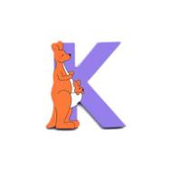 Wooden Kangaroo Letter K Magnet by The Toy Workshop