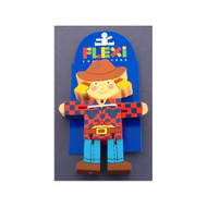 Wooden Cowgirl Flexi Character by The Toy Workshop