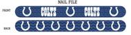 Indianapolis Colts Nail File