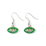 New York Jets Glitter Dangle Earrings