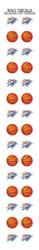 Oklahoma City Thunder Nail Sticker Decals