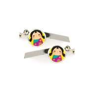 Doll Safety Whistle Keychain - 026