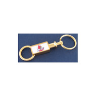 University of Louisville Gold Tone Valet Keychain