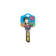 Betty Boop Biker Schlage SC1 House Key