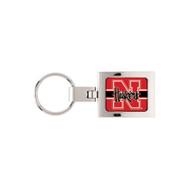 Nebraska Domed Metal Keychain Key Chain