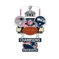 Super Bowl XLIX (49) Patriots vs. Seahawks Champion Lapel Pin