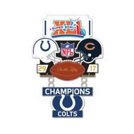 Super Bowl XLI (41) Colts vs. Bears Champion Lapel Pin