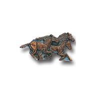 Running Horses Lapel Pin