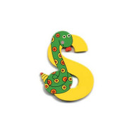Wooden Snake Letter S Magnet by The Toy Workshop