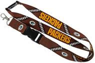 Green Bay Packers Football Laces Lanyard