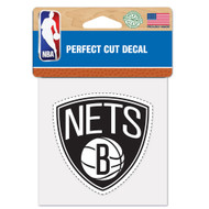"""Brooklyn Nets 4""""x4"""" Team Logo Decal"""