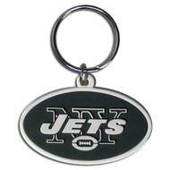 New York Jets Laser Cut Rubber Keychain