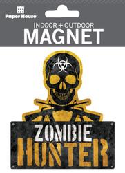 Zombie Hunter Indoor Outdoor Die-Cut Magnet