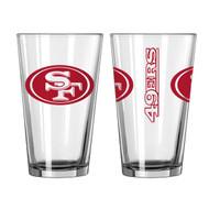 San Francisco 49ers Gameday Pint Glass