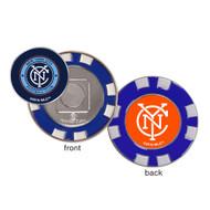 New York City FC Poker Chip Golf Ball Marker
