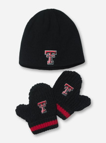 "47 Brand ""Baby Rae"" TODDLER Black Beanie & Mittens Set"