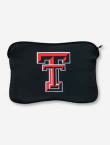 Texas Tech Double T on Black Neoprene Laptop Case